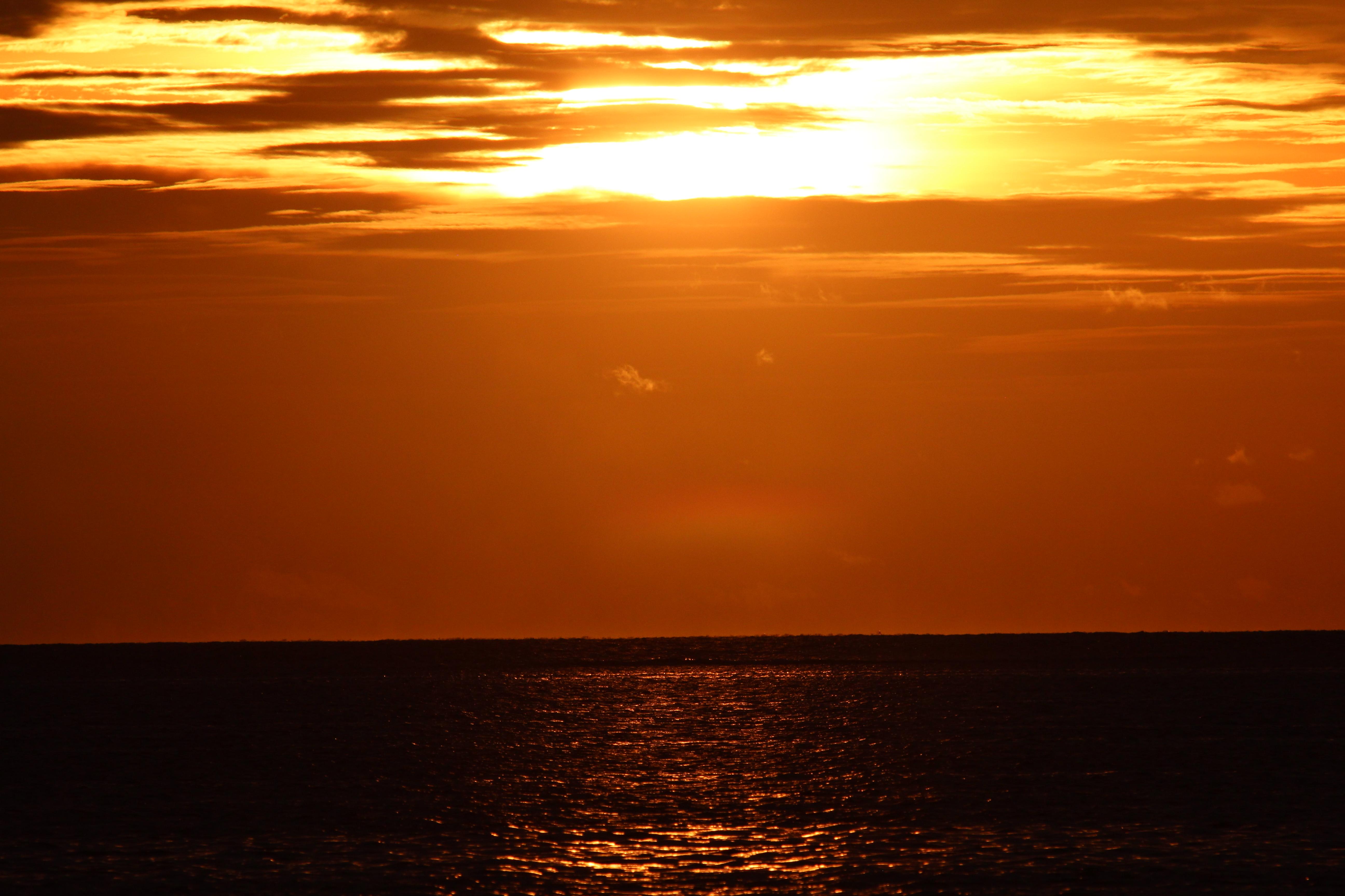 закат на Южных Атоллах Мальдив