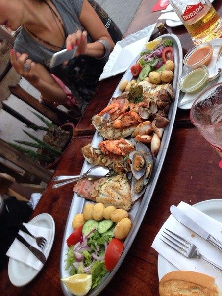 типичный обед на Фуертевентуре