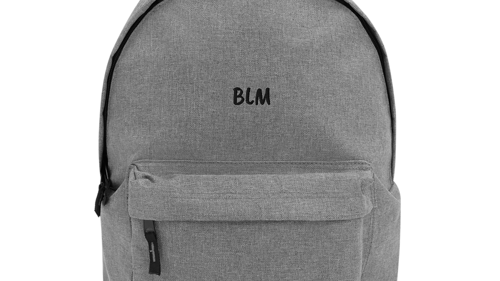 Embroidered BLM Backpack