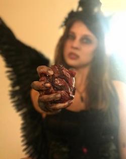 FAke heart hand made