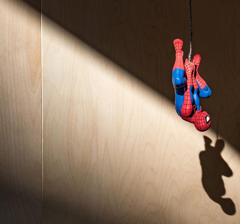 spider man on rope