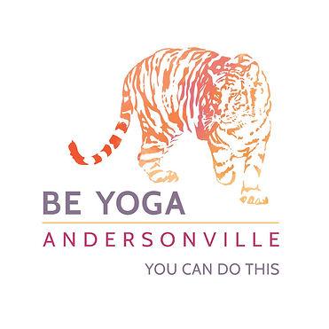 be yoga, be yoga andersonville, be yoga logo, tiger, yoga