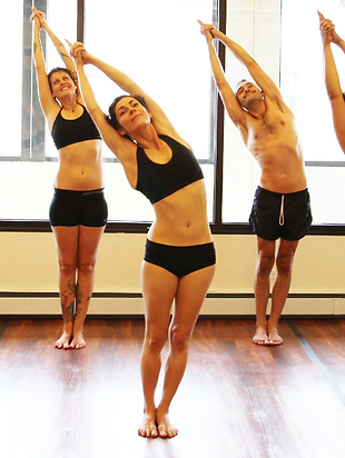 yoga studio, yoga school, yoga room, yoga teachers, yoga class, beginners yoga, yoga, happy, half moon pose