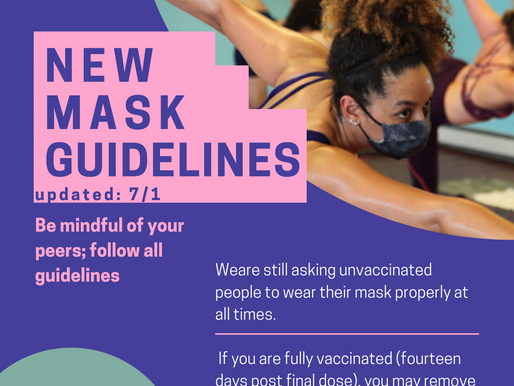 Update: New Mask Guidelines