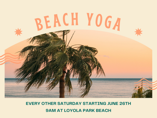 Summer weather means...BEACH YOGA!