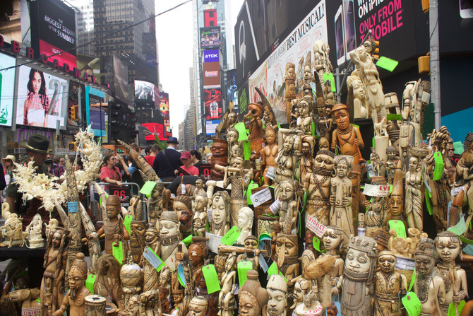 USFWS Crushes One Ton of Elephant Ivory in Times Square
