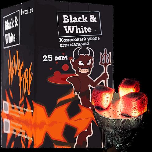 Уголь Black & White 72 шт (25мм)