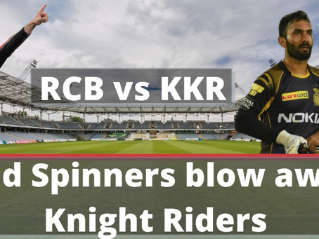 RCB vs KKR - ABD and Spinners blow away the Knight Riders