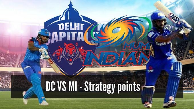 DC vs MI : Strategy Points