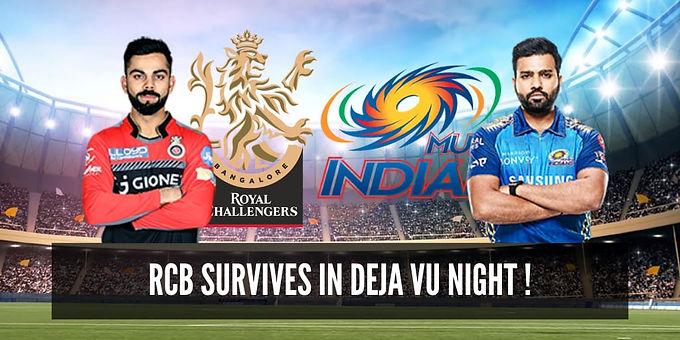 RCB survives in Deja Vu Night!