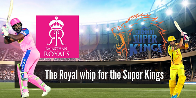 The Royal whip for the Super Kings!