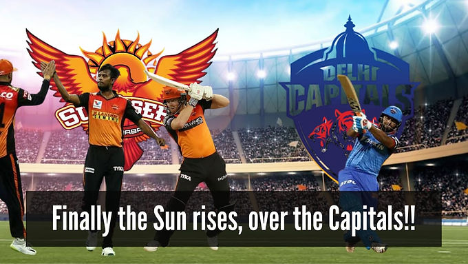 Finally the Sun rises, over the Capitals!!