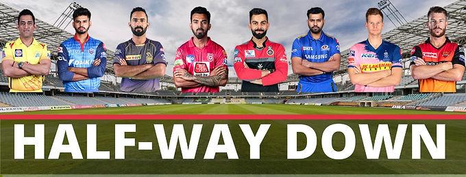 The IPL season so far...