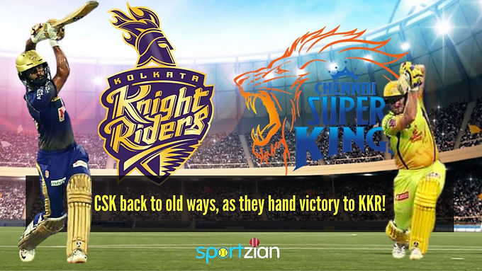 CSK back to old ways as they hand victory to KKR!