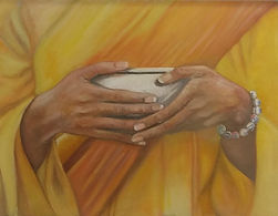 Woman holding bowl