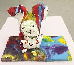 sculpture model of cute rabbit