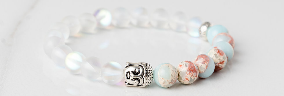 Happiness and Manifestation - Silver Buddha Gemlet