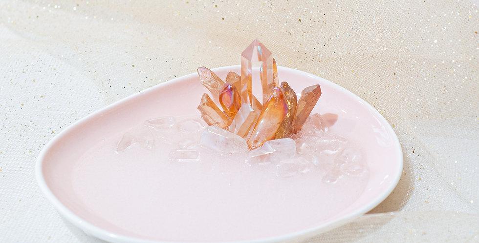 Crystal Jewelry Dish in Baby Pink - orange aura
