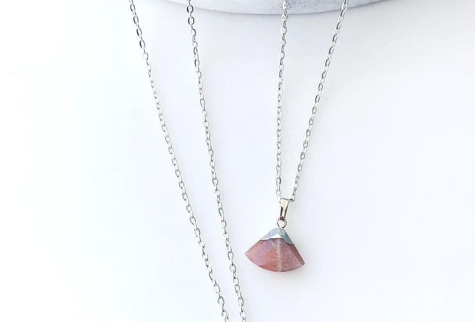 Sunstone Fan Necklace
