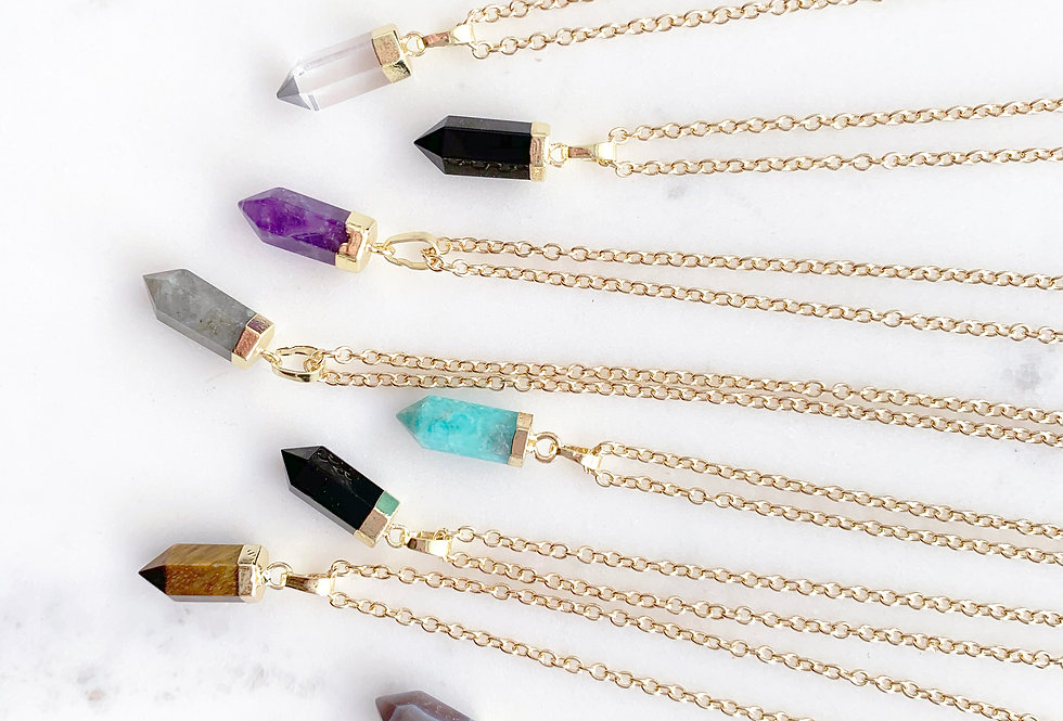 Gemlet Crystal Point Necklace