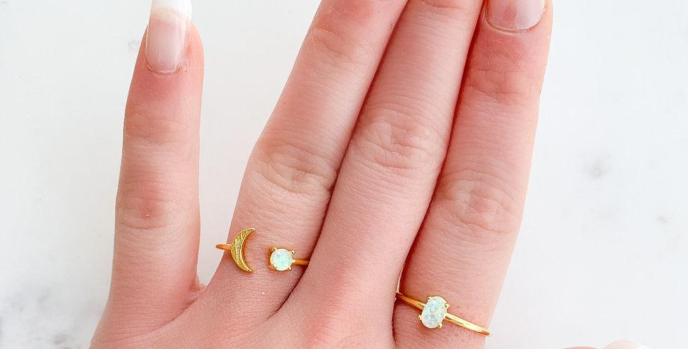 Opal Adjustable Ring