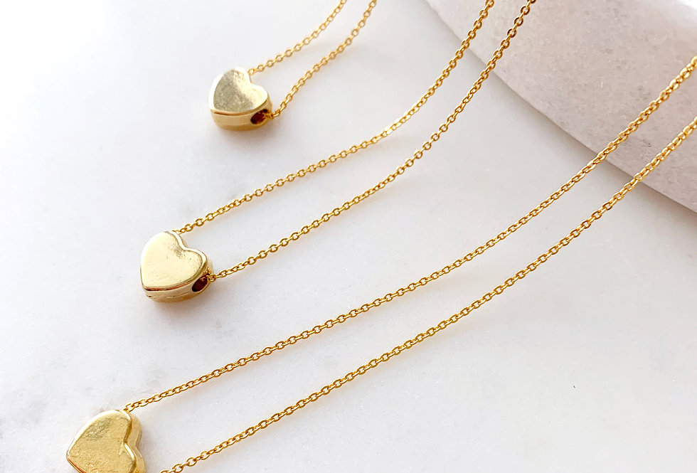 24K Gold Filled Dainty Heart Necklace