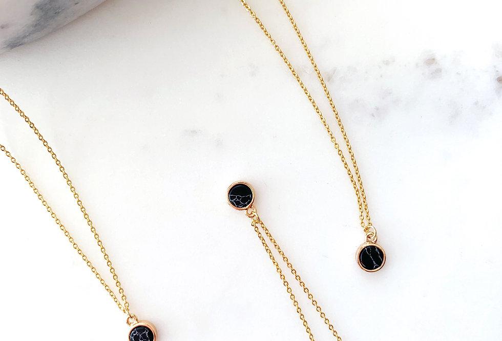 Onyx Round Necklace