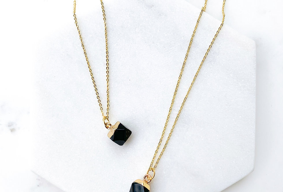 Onyx Nugget Necklace