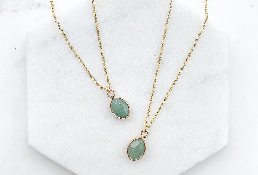 Jade Oval Necklace