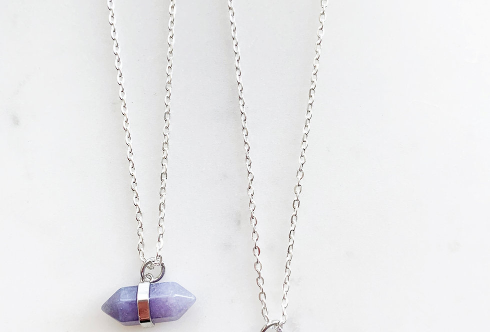 Amethyst Wand Necklace