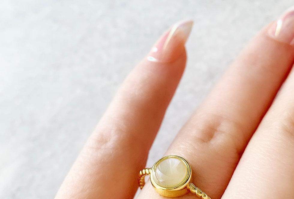 Moonstone Adjustable Ring