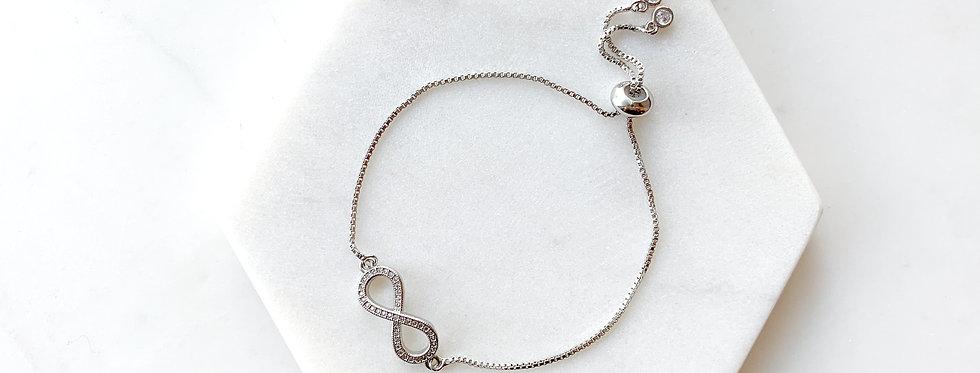 Sterling Silver Infinity Adjustable Bracelet