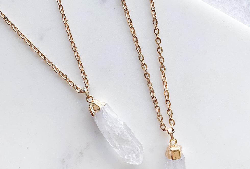 Crystal Quartz Pendant Necklace