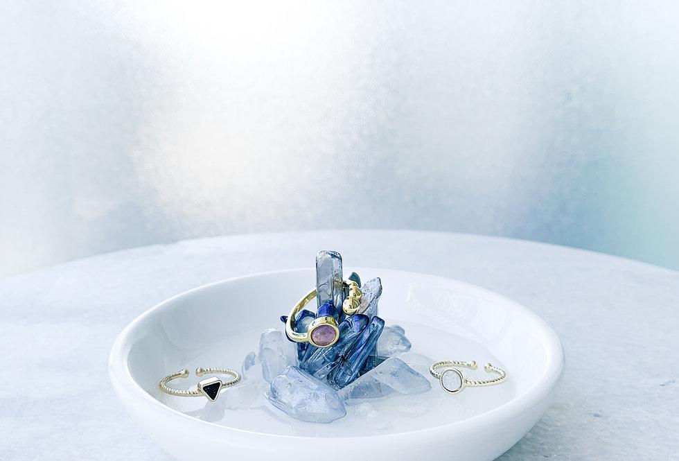 Crystal Round Trinket Dish