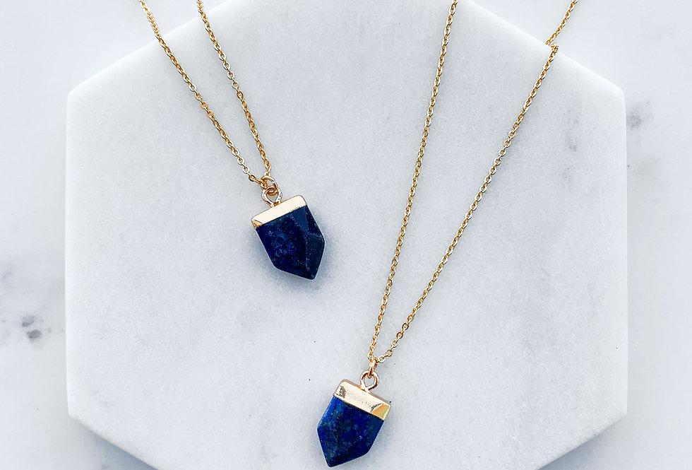 Lapis Lazuli Shield Necklace