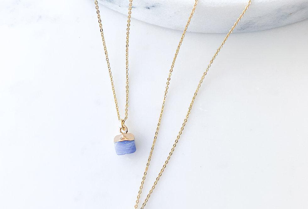 Blue Lace Agate Nugget Necklace