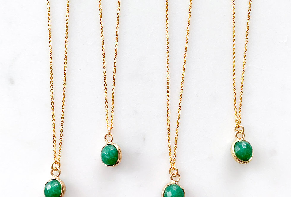 Aventurine Ball Necklace