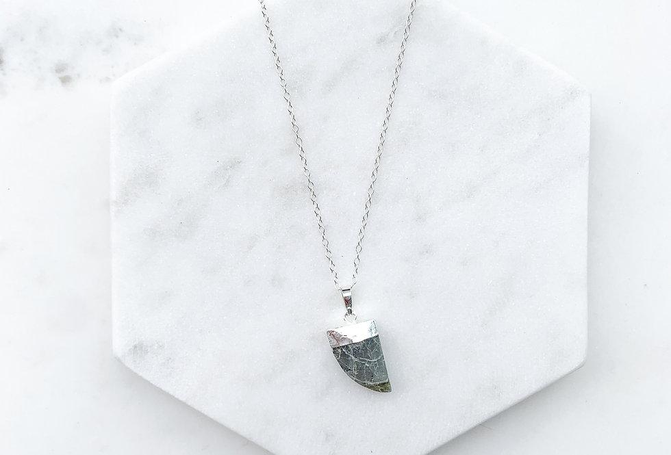 Labradorite Horn Necklace