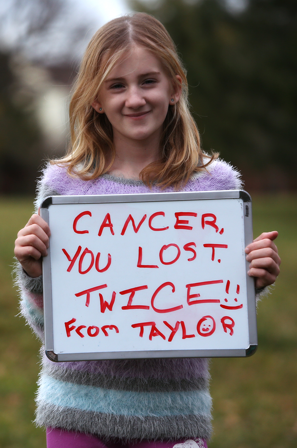 Taylor Love, cancer survivor x2