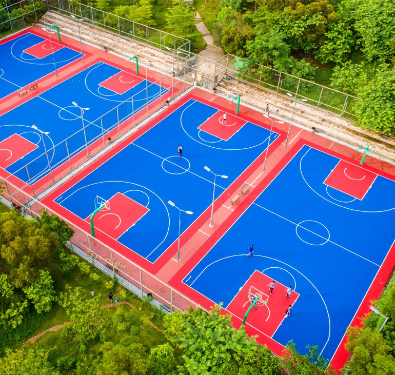 Basketball court pp interlocking tiles