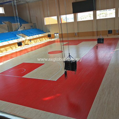 Basketball Timber Flooring - Solid Sports Parquet System