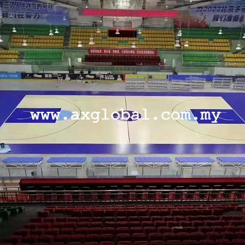 Basketball Hardwood Flooring - Portable Sports Flooring System [FIBA Certified]