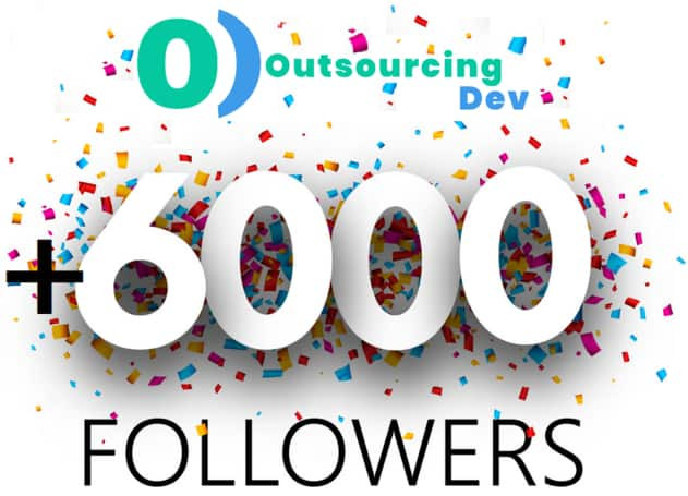 OutsourcingDev Company reached 6000+ followers in USA