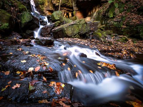 Lumsdale Falls, Derbyshire