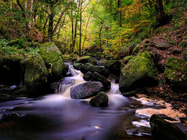 Padley Gorge Waterfall