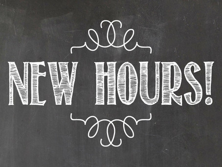 Our Hours Are Expanding!