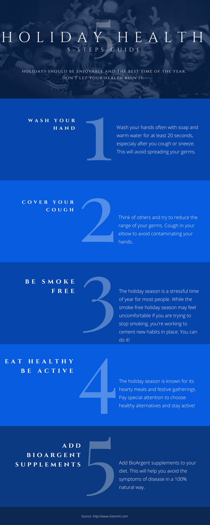5 steps to stay healthy during holidays