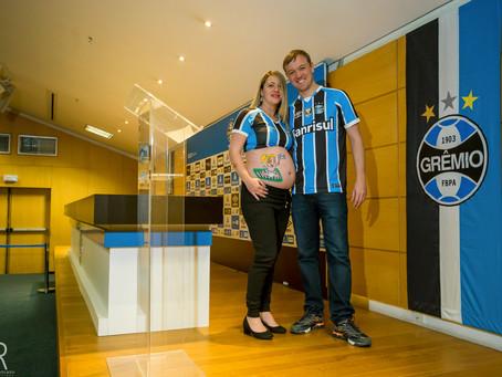 Ensaio Gestante | Patric + Gislaine = Mariana | Arena do Grêmio | Fotógrafo Vale dos Sinos