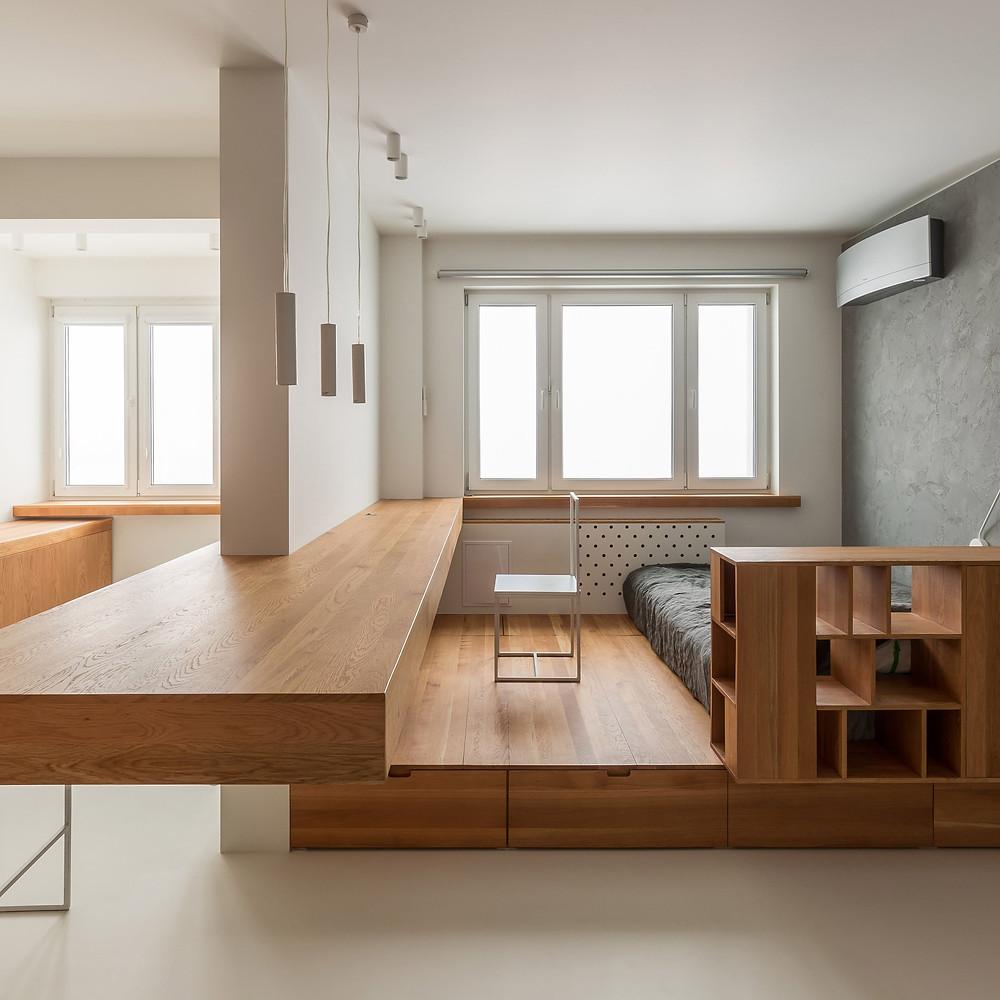 Ruetemple | ТОП 10  дизайн проектов квартир студий | блог SENKO architects | квартира студия | дизайн интерьера квартиры студии | смарт квартира интерьер | небольшая квартира дизайн | дизайн интерьера |минимализм | архитектурное бюро киев | квартира-студия