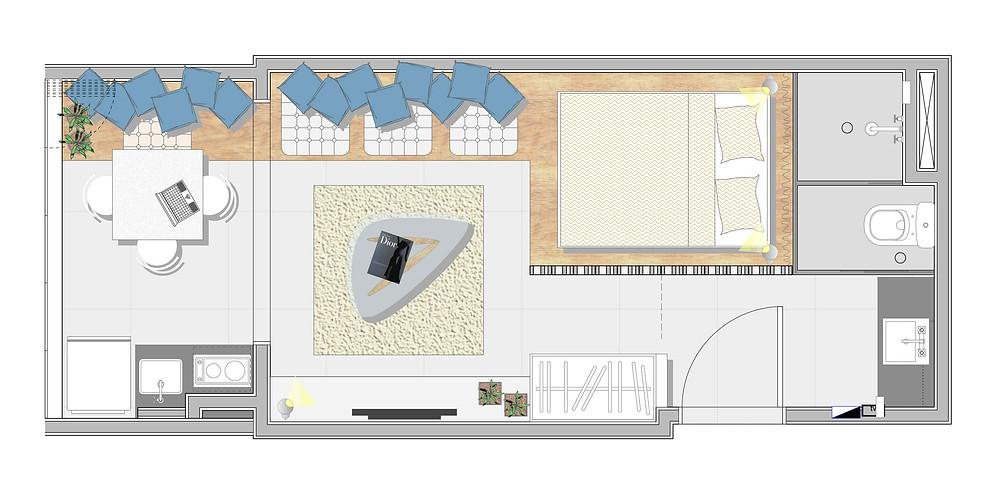 TRIA Arquitetura | ТОП 10  дизайн проектов квартир студий | блог SENKO architects | квартира студия | дизайн интерьера квартиры студии | смарт квартира интерьер | небольшая квартира дизайн | дизайн интерьера |минимализм | архитектурное бюро киев